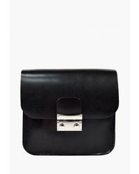 Черная кожаная поясная сумка от BB1