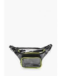 Черная кожаная поясная сумка от Befree