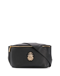 Мужская черная кожаная поясная сумка от Billionaire