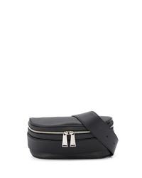 Мужская черная кожаная поясная сумка от Bottega Veneta
