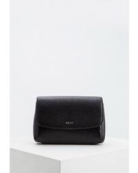 Черная кожаная поясная сумка от DKNY
