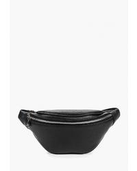 Черная кожаная поясная сумка от Fiato