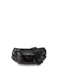 Мужская черная кожаная поясная сумка от Juun.J