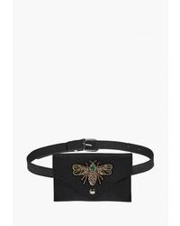 Черная кожаная поясная сумка от Nothing but Love