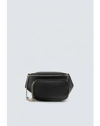 Черная кожаная поясная сумка от Pull&Bear