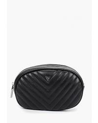 Черная кожаная поясная сумка от Ventoro