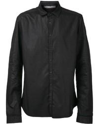 35975721349 Купить мужскую черную кожаную рубашку с длинным рукавом - модные ...