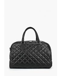 Женская черная кожаная спортивная сумка от Antan