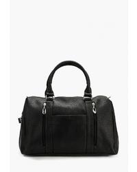 Женская черная кожаная спортивная сумка от Vita