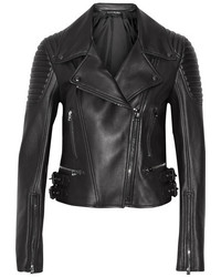 Женская черная кожаная стеганая косуха от Tom Ford
