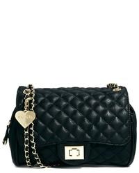 Женская черная кожаная стеганая сумка-саквояж от Marc B