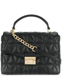 Женская черная кожаная стеганая сумка-саквояж от MICHAEL Michael Kors