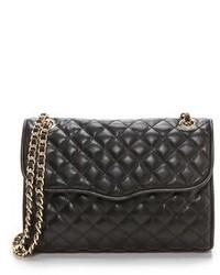 Женская черная кожаная стеганая сумка-саквояж от Rebecca Minkoff