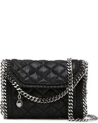 Женская черная кожаная стеганая сумка-саквояж от Stella McCartney