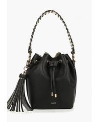 Черная кожаная сумка-мешок от Aldo