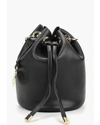Черная кожаная сумка-мешок от Bata