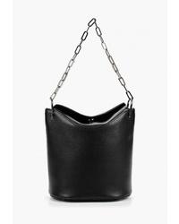 Черная кожаная сумка-мешок от Federica Bassi
