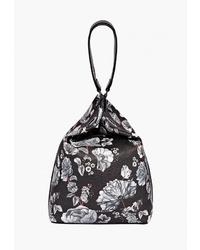 Черная кожаная сумка-мешок от Fiorelli