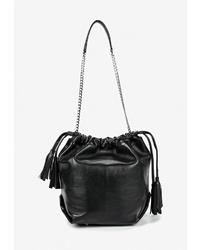 Черная кожаная сумка-мешок от Igermann