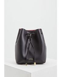 Черная кожаная сумка-мешок от Lauren Ralph Lauren
