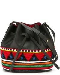 Женская черная кожаная сумка-мешок от Les Petits Joueurs