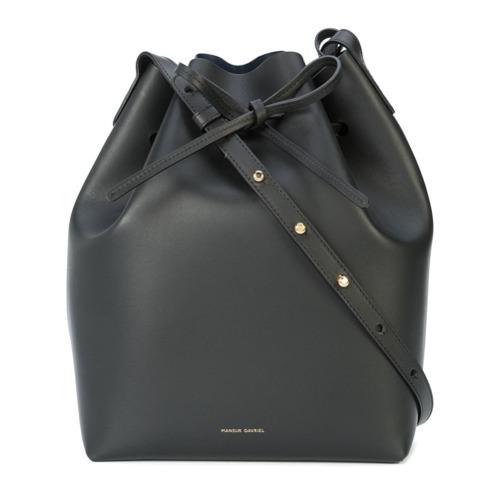 Черная кожаная сумка-мешок от Mansur Gavriel