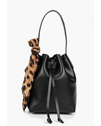Черная кожаная сумка-мешок от Modis