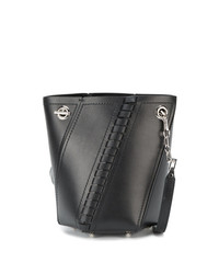 Женская черная кожаная сумка-мешок от Proenza Schouler