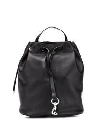 Черная кожаная сумка-мешок от Rebecca Minkoff