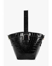 Черная кожаная сумка-мешок от Topshop