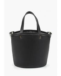Черная кожаная сумка-мешок от Violeta BY MANGO