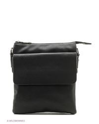 Мужская черная кожаная сумка почтальона от Calipso