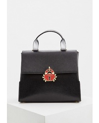 Черная кожаная сумка-саквояж от Braccialini