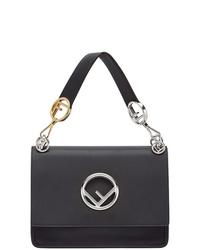 Черная кожаная сумка-саквояж от Fendi