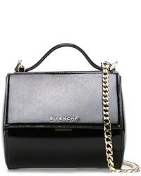 Женская черная кожаная сумка-саквояж от Givenchy