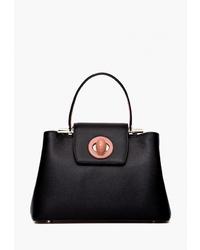 Черная кожаная сумка-саквояж от Labbra