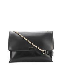 Женская черная кожаная сумка-саквояж от Lanvin