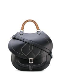 Женская черная кожаная сумка-саквояж от Maison Margiela