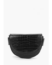 Черная кожаная сумка-саквояж от Mango