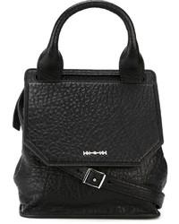Черная кожаная сумка-саквояж от McQ by Alexander McQueen