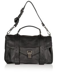Женская черная кожаная сумка-саквояж от Proenza Schouler