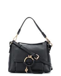 Женская черная кожаная сумка-саквояж от See by Chloe