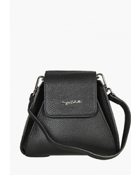 Черная кожаная сумка-саквояж от Sergio Belotti