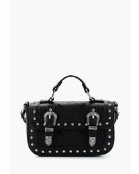 Черная кожаная сумка через плечо с шипами от Miss Selfridge