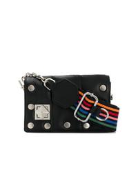 Черная кожаная сумка через плечо с шипами от Sonia Rykiel