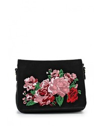Женская черная кожаная сумка через плечо от Calipso
