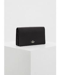 Черная кожаная сумка через плечо от Coach