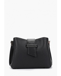 Черная кожаная сумка через плечо от David Jones