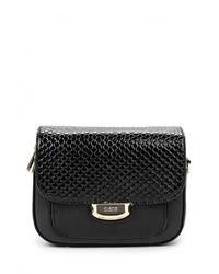 Черная кожаная сумка через плечо от Fiato