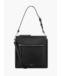 Черная кожаная сумка через плечо от Fiorelli